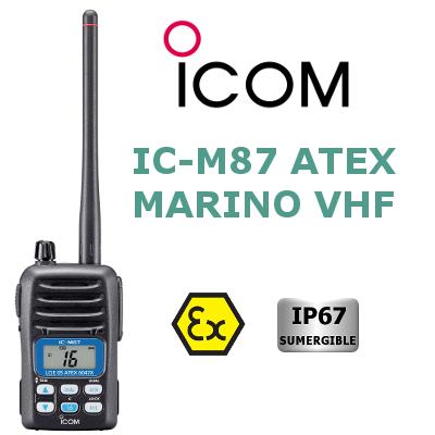 Walkie VHF Marino ICOM IC-M87ATEX