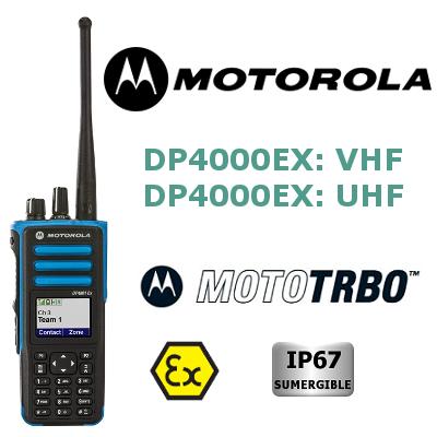 WALKIE MOTOROLA DIGITAL ATEX SERIE DP4000EX