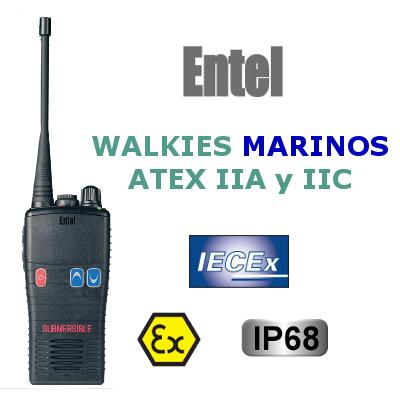 WALKIES ENTEL MARINOS ATEX IIA y IIC