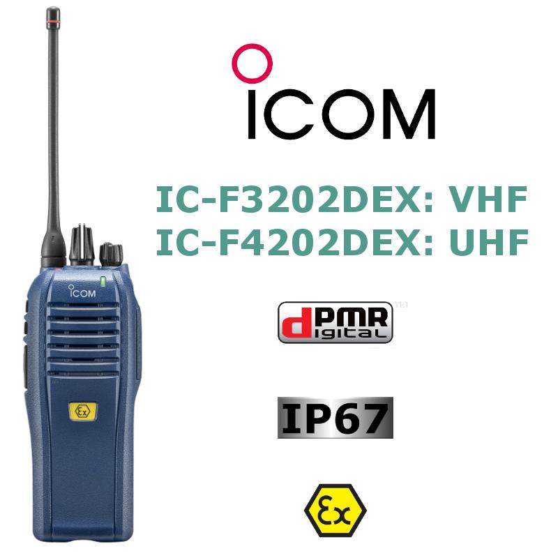 ICOM dPMR IC-F3202DEX/IC-F4202DEX
