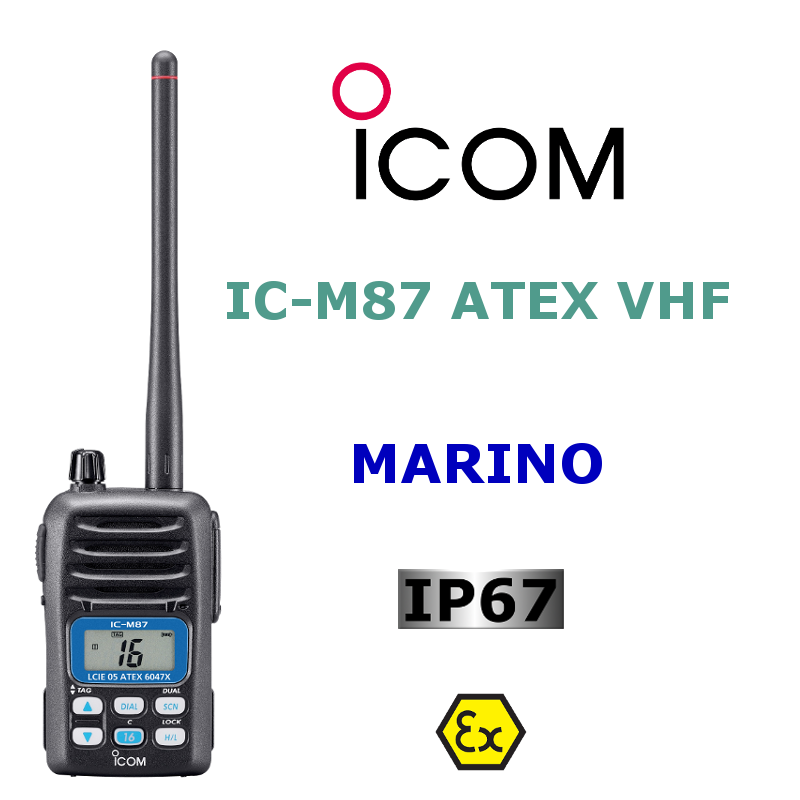 ICOM MARINO VHF IC-M87 ATEX