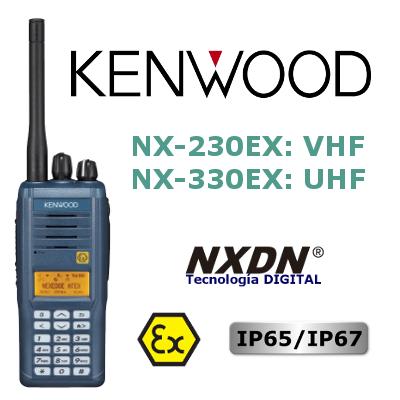 Walkie DIGITAL KENWOOD ATEX NX-230EX / NX-330EX
