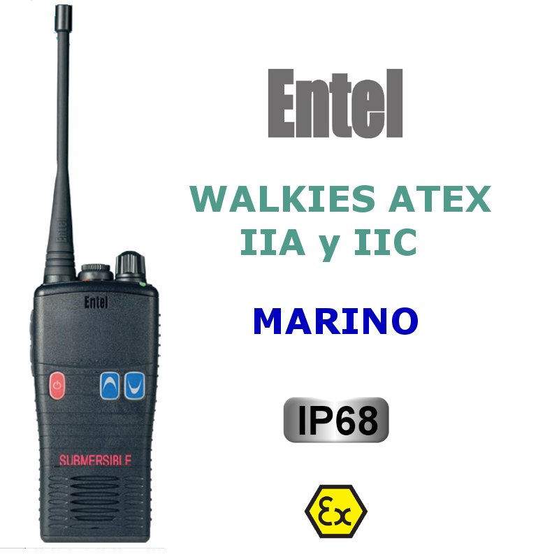 ENTEL WALKIES MARINOS ATEX IIA Y IIC