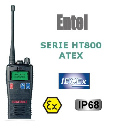 WALKIES ENTEL DE LA SERIE HT800 ATEX 16/255 CANALES IP68