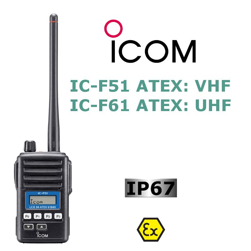 ICOM IC-F51 ATEX / IC-F61 ATEX